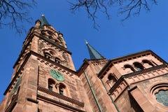 Kirche von St. Johann, Freiburg, Deutschland Lizenzfreies Stockbild