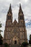 Kirche von St. Ludmila in Vinohrady lizenzfreie stockfotos