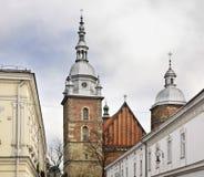 Kirche von St Margaret in Nowy Sacz polen lizenzfreies stockfoto