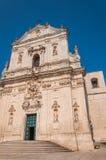 Kirche von St. Martino Martina Franca Puglia Italien Lizenzfreies Stockfoto
