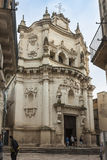 Kirche von St Matthew (17. Jahrhundert) in Lecce, eine historische Stadt Stockfoto