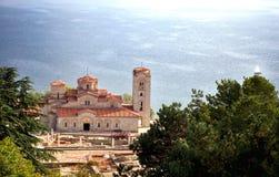 Kirche von St. Panteleimon, Ohrid, Mazedonien lizenzfreies stockbild
