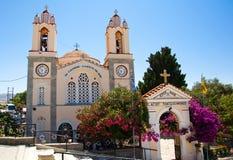 Kirche von St. Panteleimon. Rhodos, Griechenland. stockfoto