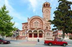 Kirche von St. Paraskeva, Nea Kallikratia, Griechenland Stockfotografie