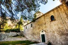Kirche von St Peter und von Paul in Risan, Montenegro Lizenzfreies Stockfoto