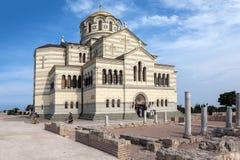 Kirche von St. Vladimir. Hersonissos. Krim stockfotos