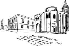Kirche von StDonat, Zadar, Kroatien stock abbildung