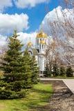 Kirche von StGeorge siegreich im Samara, Russland Lizenzfreie Stockbilder