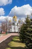 Kirche von StGeorge siegreich im Samara, Russland Lizenzfreies Stockfoto