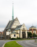 Kirche von Str. Bartholomew - Pardubice Lizenzfreies Stockfoto