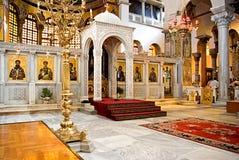 Kirche von Str. Demetrius in Saloniki Stockfotos