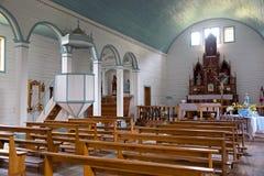 Kirche von Tenaun, Chiloe-Insel, Chile stockfotografie