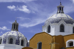 Kirche von Tlaxcala Lizenzfreie Stockfotos