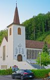 Kirche von Turbenthal in Winterthur in Zürich-Bezirk von der Schweiz Lizenzfreies Stockbild