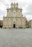 Kirche in Warschau lizenzfreie stockbilder