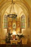 Kirche am Weihnachten Lizenzfreie Stockbilder
