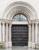 Kirche Zürichs die Schweiz Fraumunster Lizenzfreies Stockfoto