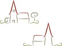 Kirche-Zeichen Stockfotos