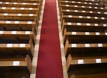 Kirchebänke Lizenzfreies Stockbild
