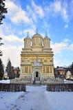 Kirchefassade Curteade Arges Stockbild