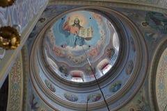 Kircheinnenraum Stockbild