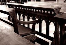 Kircheinnenraum, altes historisches Stockbild