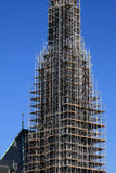 Kirchekathedralebaugerüst Stockfotos