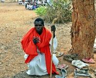 Kirchen-Abschnitt im Freien Simbabwe Mapostori Lizenzfreie Stockbilder