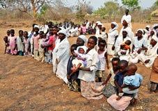 Kirchen-Abschnitt im Freien Simbabwe Mapostori Stockfoto