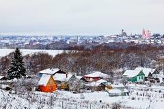Kirchen in Borovsk Stockfotografie