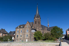 Kirchen city in germany in the autumn royalty free stock photo