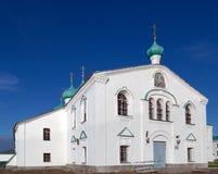 Kirchen des Transfigurations-St. Alexander Svir-Klosters Stockfotos