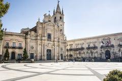 Kirchen-Heilige Peter und Paul Acireale Sicily Lizenzfreie Stockfotos