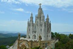 Kirchen-heiliges Herz von Jesus in Tibidabo, Barcelona, Spanien am 22. Juni 2016 Lizenzfreie Stockfotografie
