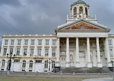 Kirchen-Heiliges Jacques-sur-Coudenberg an der richtigen Stelle Royale oder königliches Quadrat in Brüssel, Belgien Lizenzfreies Stockbild