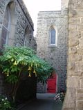 Kirchen-Hof Lizenzfreies Stockbild
