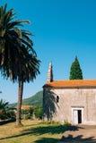 Kirchen-orthodoxe Kirche der Geburt Christi der Jungfrau in Perast, Stockfotografie