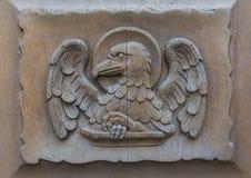 Kirchen-Tür Walluf Eagle Johannes Lizenzfreie Stockfotografie