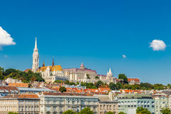 Kirchen und Gebäude von Budapest in Ungarn Lizenzfreies Stockbild
