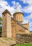 Kirchen von Ananuri-Schloss georgia Stockbild