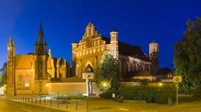 Kirchen von aSt Anne und St Francis und Bernhardiner in Vilnius stockbilder