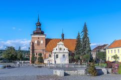 Kirchen von Polen - Wloclawek lizenzfreies stockbild