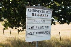 Kirchen-Zeichen Stockbild