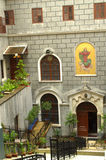Kircheneingang Istanbul St. Mary Draperis Lizenzfreies Stockfoto