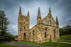 Kirchengebäude Port Arthur-an der Strafkolonienwelterbestätte lizenzfreie stockfotos