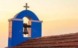 Kirchenglocke in Griechenland stockbild