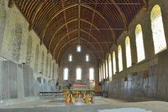 Kirchenhalle an den 1000 jährigen Ruinen der sint-baafs Abtei Lizenzfreies Stockbild