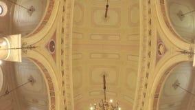 Kircheninnenarchitektur in Chile stock video footage