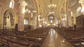 Kircheninnenarchitektur in Chile stock footage
