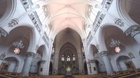 Kircheninnenarchitektur in Chile stock video